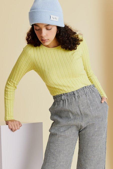 hej hej Layer Cake Knit sweater - Citron