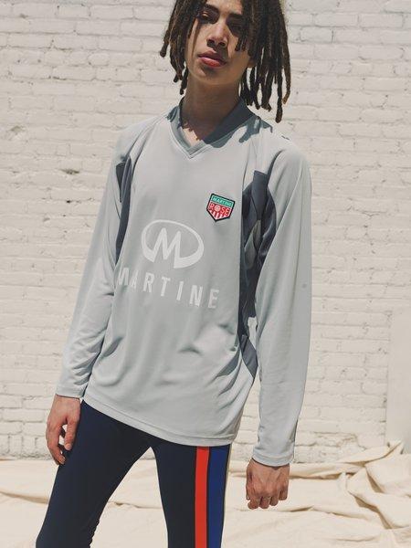 Martine Rose Revels LS Football Top - Light Grey