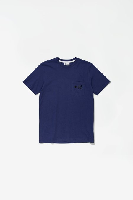 Norse Projects x GM Niels Pocket Mind Wall Tshirt - Hydrone Blue