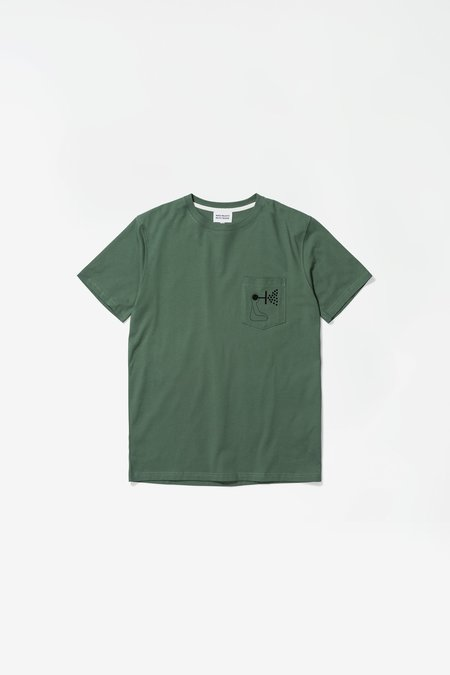 Norse Projects x GM Niels Pocket Mind Wall Tshirt - Thyme Green
