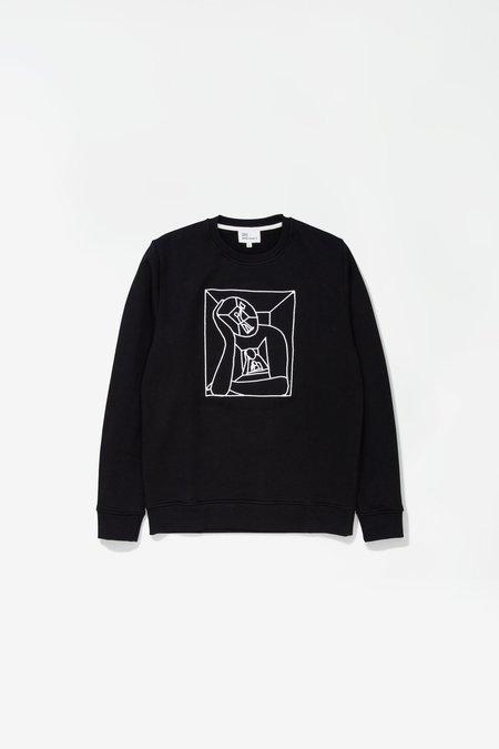 Norse Projects X Gm Vagn Boredom Logo Sweatshirt - Black