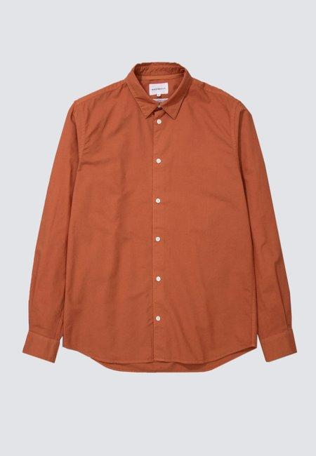 Norse Projects Hans Cotton Linen GMD Shirt - burnt ocher