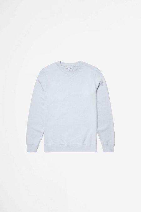 Sunspel Cotton Loopback Sweatshirt - Powder Blue