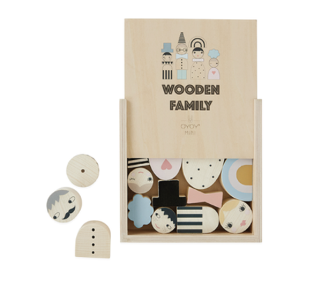 kids OYOY Wooden Family Bricks