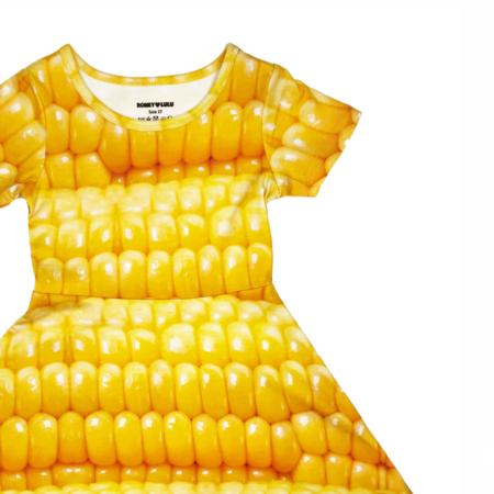 kids Romey Loves Lulu Corn Skater Dress - yellow