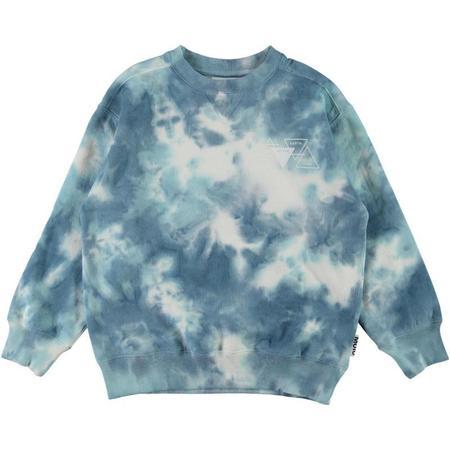 kids molo mann sweatshirt - tie dye