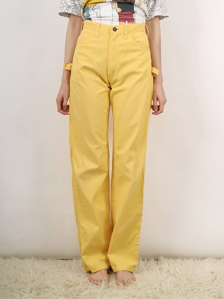 Vintage painter pants - yellow