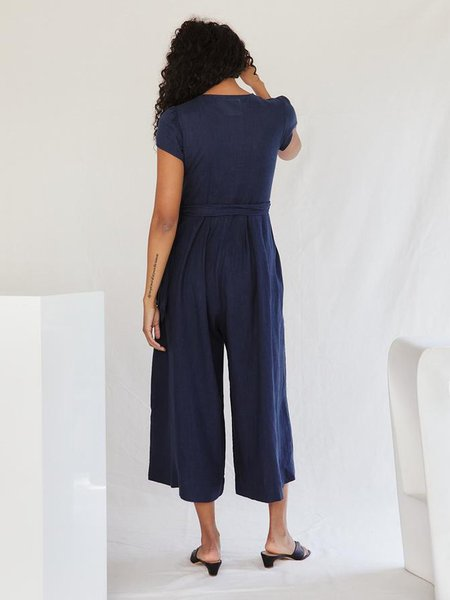 Sugar Candy Mountain Angela Jumpsuit - Navy