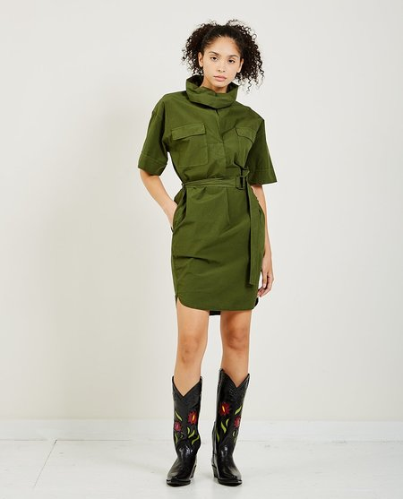Kenzo Belted Tunic Dress - Army