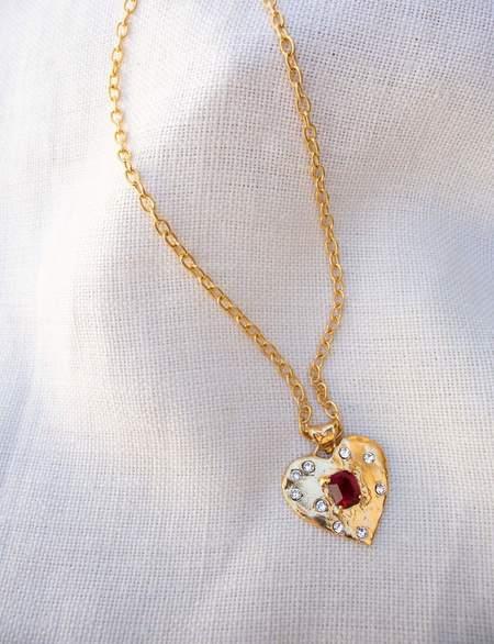 Mondo Mondo Super Heart Necklace - Ruby