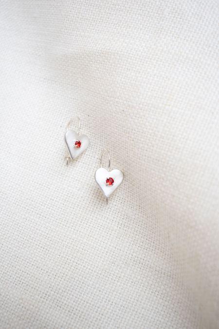 Mondo Mondo Sweetheart Earrings - Sterling Silver
