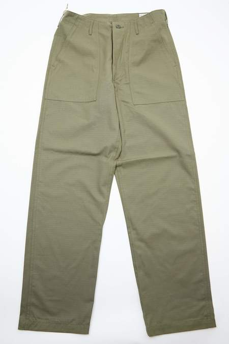OrSlow Regular Fit US Army Fatigue Rip-Stop Pants - Army Green