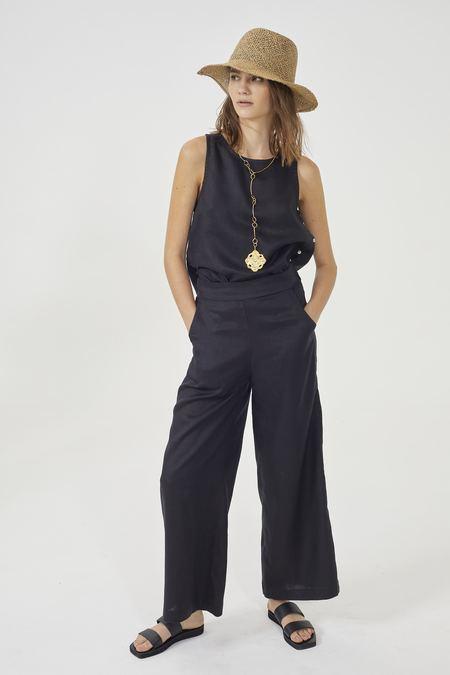 Lanhtropy Luna Linen Pants - BLACK