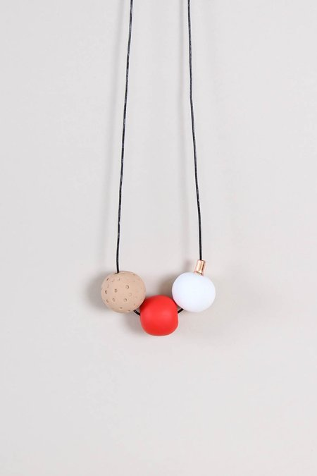 Peppertrain Andy Necklace - Red/White