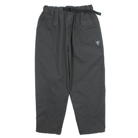 South2 West8 BELTED CENTER SEAM PANTS - CHARCOAL