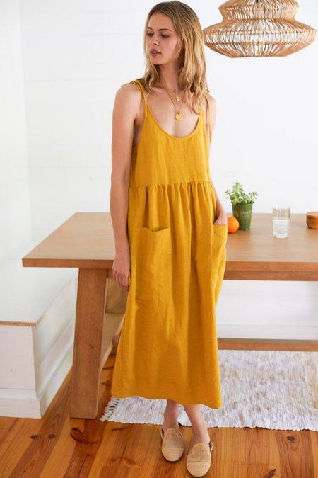 Mabel and Moss Emerson Fry Livia Dress - Golden Wheat