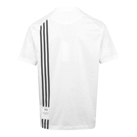 adidas Y-3 3 Stripe T-Shirt - White