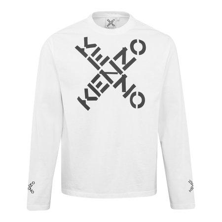 Kenzo Sport Skate Long Sleeve Tee - White
