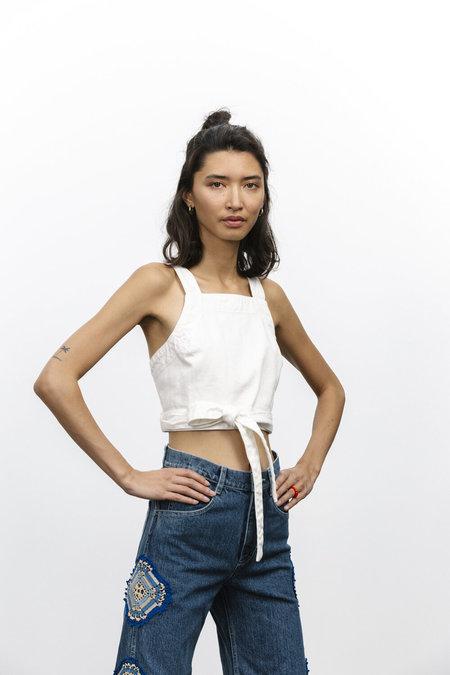 carleen Louise Wrap Top - White