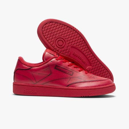 Reebok x Maison Margiela Club C Trompe L'oeil sneakers - Red