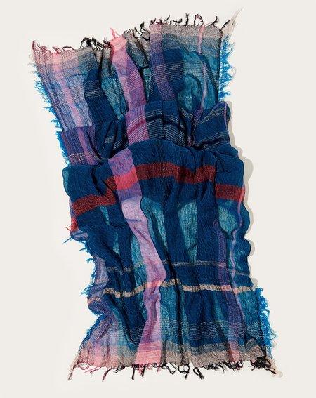 Tamaki Niime Big Roots Shawl - Turquoise