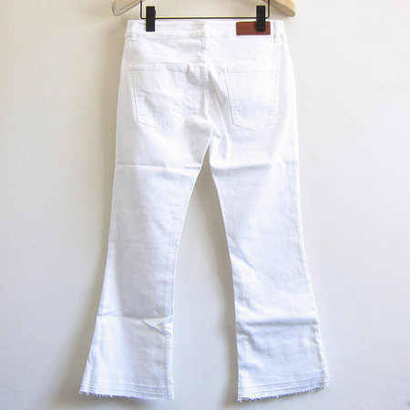 European Culture cropped flare jean - white