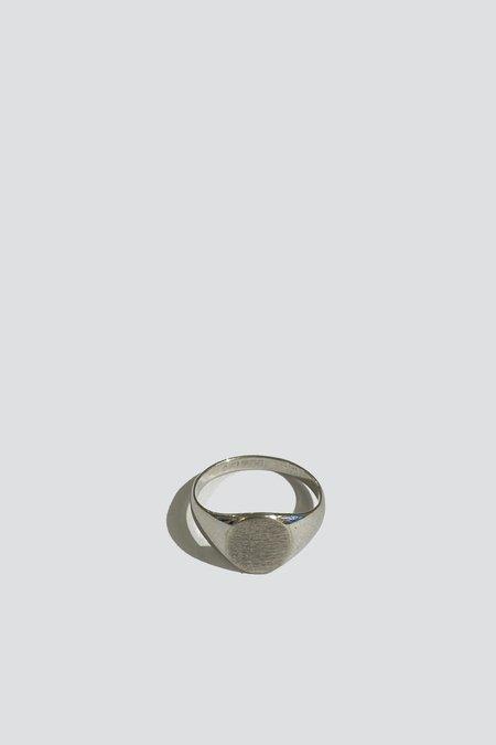 Vintage Flat Signet Ring - Sterling Silver