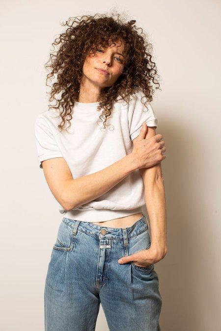 Preservation Vintage Short Sleeve Raglan Sweatshirt - White