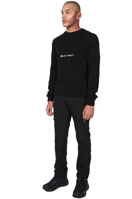 Heliot Emil Intarsia Logo Sweater - black