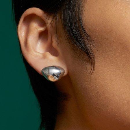 Jenny Bird Dore Lobe Huggers earrings - Silver