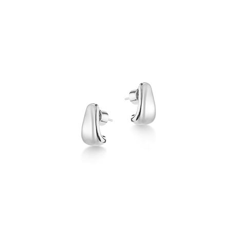 Jenny Bird Juno Huggies earrings - Silver