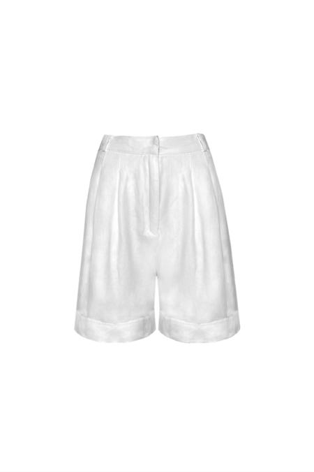KES Pleated Shorts - Antique White