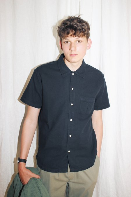 Corridor Short Sleeve Horseshoe Pocket Shirt - Black