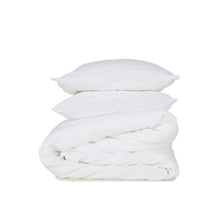 Hawkins New York Simple Linen Fitted Sheet Queen - Ivory