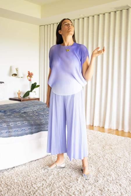 Pleats Please by Issey Miyake April Pants - Steel Blue
