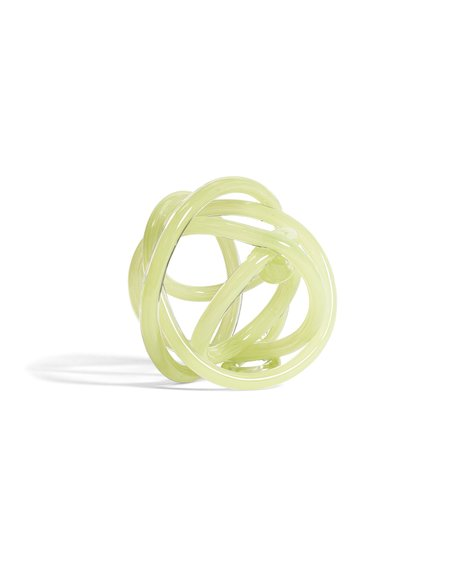 Hay Knot No 2 L sculpture - Light green