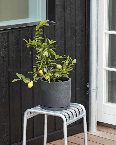 Hay Maceta Plant Pot with Saucer XXL - Grey