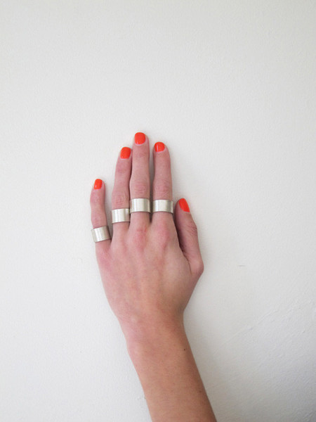 Kat Seale Set of 4 Rings, Sterling Silver