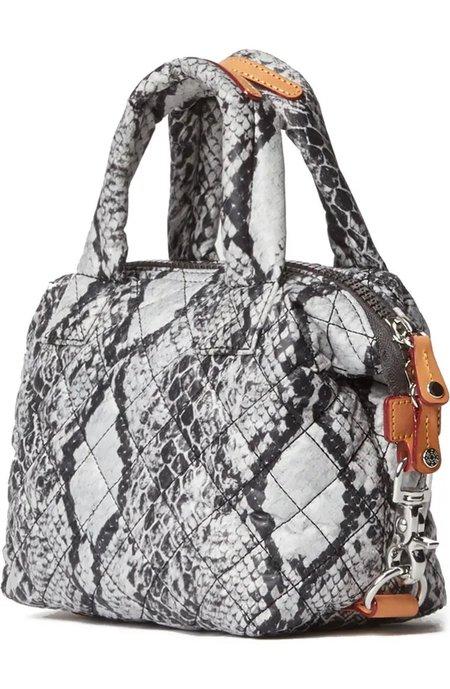 MZ Wallace Micro Sutton bag - Grey Snake