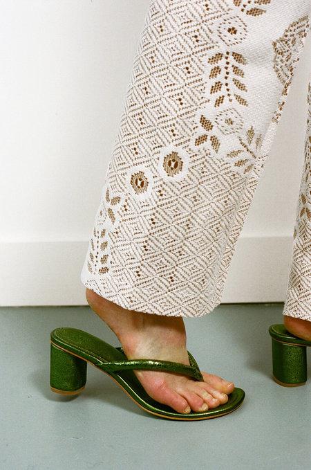 MARYAM NASSIR ZADEH Nile Thong Sandals - Iguana