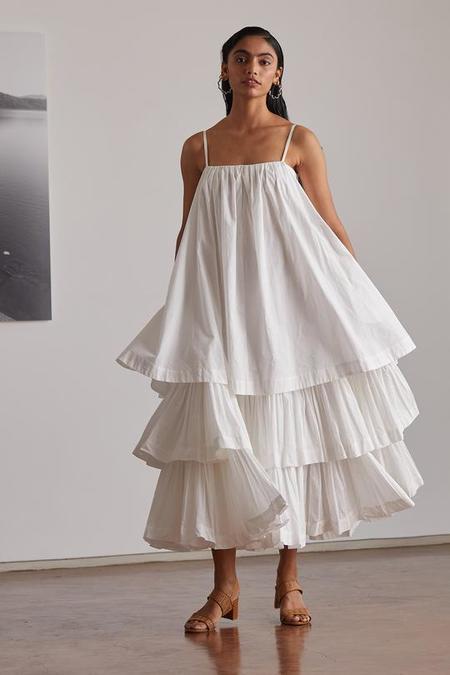 RUJUTA SHETH Hannah Tiered Tank Dress - White