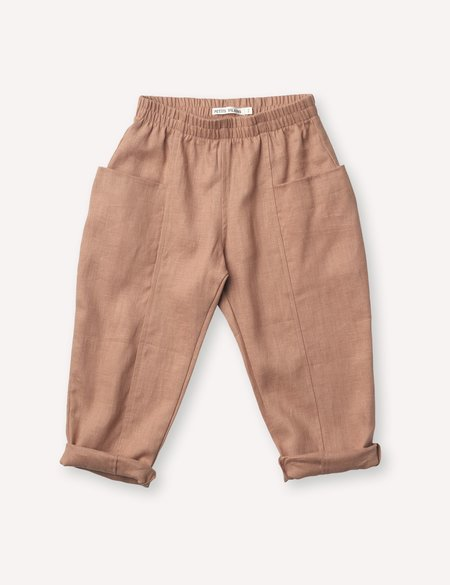 Kids Petits Vilains Maxence Pocket Pant - Baked Clay