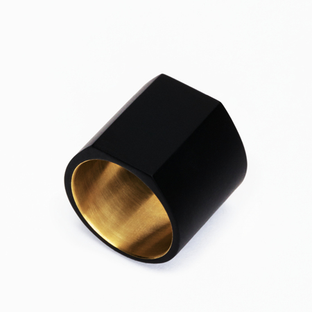 MING YU WANG Matte Black PRIMER Ring
