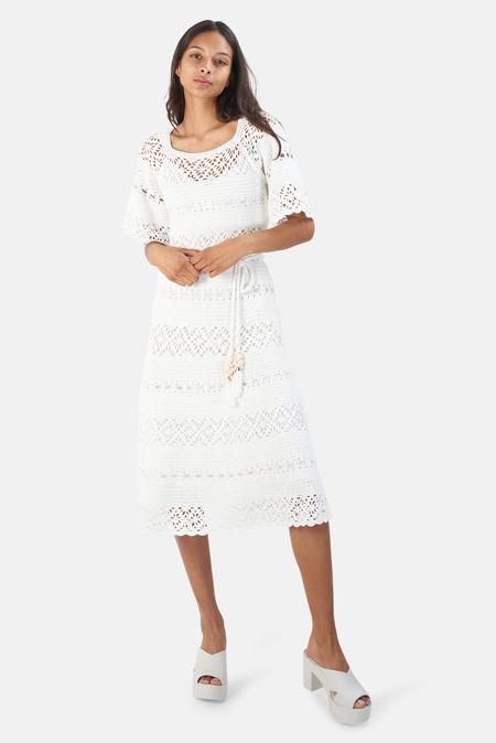 Zimmermann Cassia Crochet Dress - Ivory