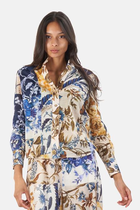 Zimmermann Aliane Body Shirt - Patchwork Floral