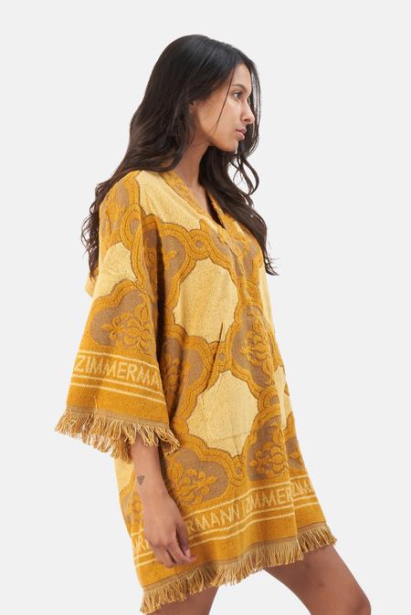 Zimmermann Aliane Terry Towel Dress - Mustard