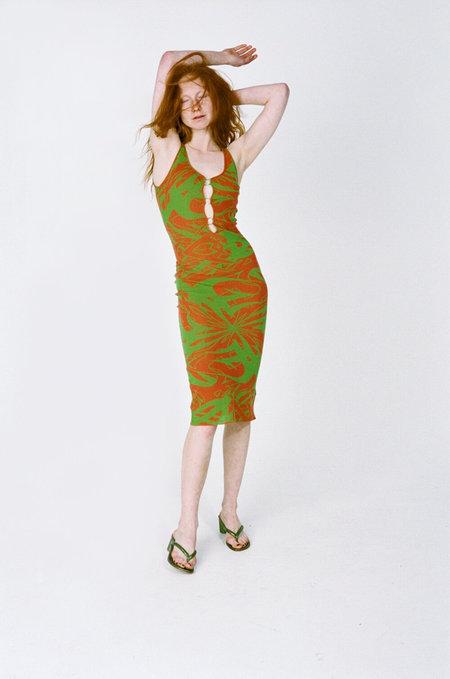 PALOMA WOOL Scorpia dress - Red/green