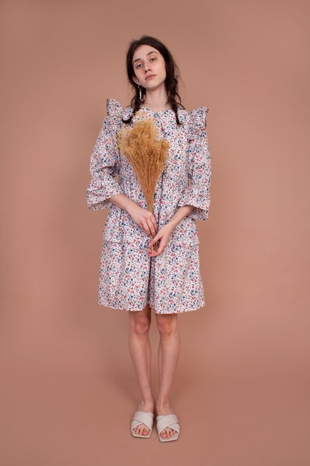 Meadows Mandrake Dress - Multi Ditsy
