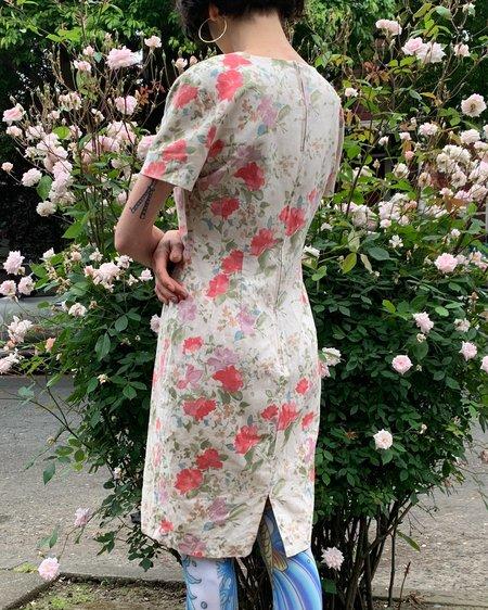 Vintage Garden Floral Shift Dress - multi