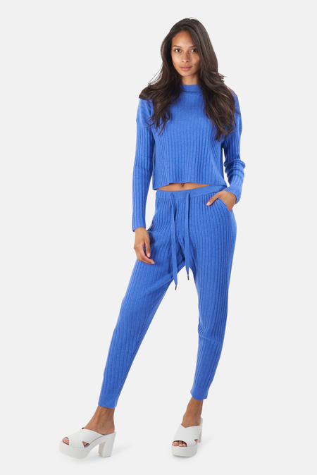 The Tile Club Abbey Lightweight Ribbed Bottom - Blue